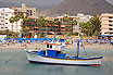 Boat In Front Of Tenerife Beach Hotels